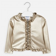 Girls Faux Leather Jacket (Gold) 3464
