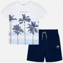 Boys T-Shirt and Shorts Set (Navy) 3621