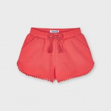 Girls Chenille Shorts - Coral (607)