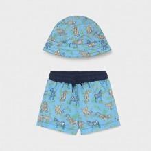Infant Boys Swimming Shorts and Reversible Hat Set - Safari (1666)