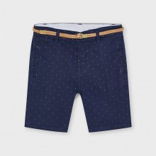 Boys Cotton Shorts with Belt - Navy (3243)
