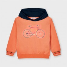Boys Hoodie with Bicycle Detail - Apricot (3403)