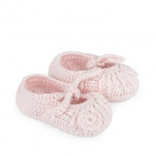 Rose Knit Booties (9252)