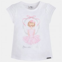 Girls Applique Dress T-Shirt - Orchid (3055)