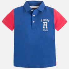 Boys Polo with rustic applique - (3117)