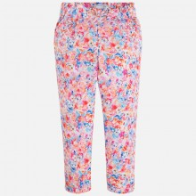 Girl Floral Print Long Trousers (3537)
