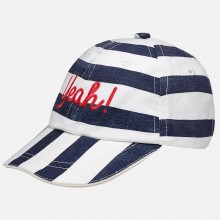 Baby Boys blue & white stripe cap (10126)