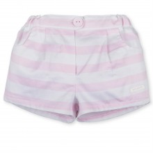 Baby Girls Pink Stripe Shorts (2726)