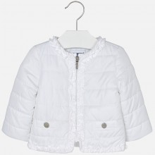 Padded Windbreaker Jacket - White (1436)