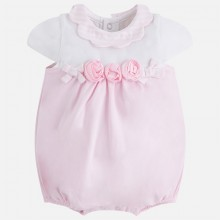 Girls Pink Rose Romper(1642)