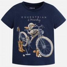 T-shirt with Equestrian Print - Navy (3059)