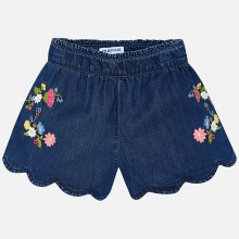 Embroidered Shorts - Denim (3222)