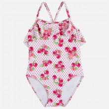 Girls Strawberry Print Swimsuit