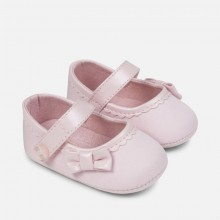 Pink Mary Jane Pram Shoes (9811)