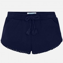 Girls Chenille Shorts - Navy (607)