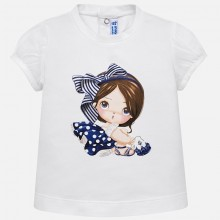 Infant Girls Short Sleeve T-Shirt - White (1008)