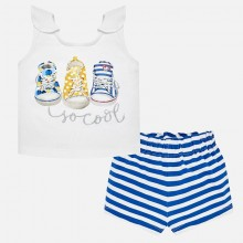 Girls Shoe Shorts Set (1231)