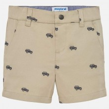 Boys Jacquard Chino Shorts - Beige (1240)