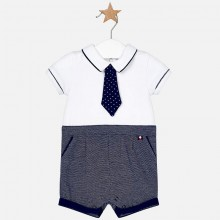 Infant Boys Romper with Tie - (1609)