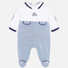 Boys Babygrow with Car Detail - (1721)