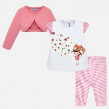 Infant Girls Legging Set - Pink (1743)