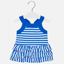 Infant Girls Striped Dress - Blue (1945)