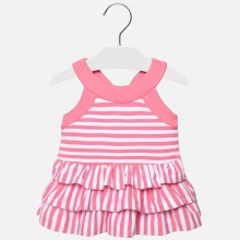 Infant Girls Striped Dress - Pink (1945)