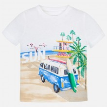 Boys Short Sleeve T-Shirt - White (3035)