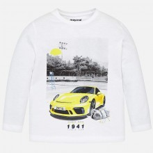 Boys Long Sleeved T-Shirt - White (3046)