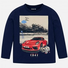 Boys Long Sleeved T-Shirt - Navy (3046)