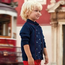 Boys Short Sleeve Polo Shirt - Navy (3112)