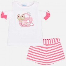 Striped Short Set - Pink (3218)