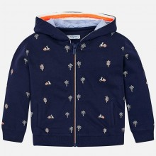 Boys Zipped Fleece Hoodie - Navy (3428)