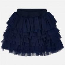 Tulle ruffle Skirt - Navy (3903)