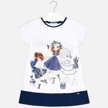 Shopping Dolls Dress - Navy (3945)