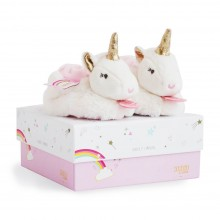 Soft Unicorn Slippers - Pink