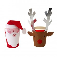 Santa Reindeer Cups with Wrapper