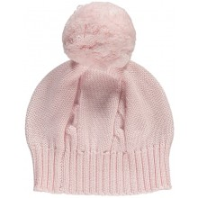 Fuzzy - Pink Bobble Hat
