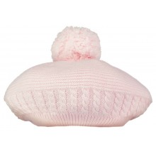 Nera - Pink Beret with Bobble