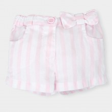 Pale Pink Stripe Shorts (4818)