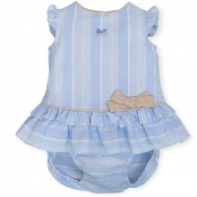 Baby Dress with Matching Briefs - Ceramic (6785)