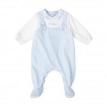 Baby Boys Dungaree Babygrow - Sky Blue (7084)