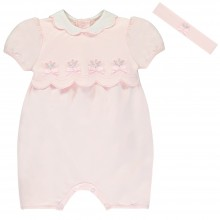 Stella - Romper with Rosebud Detail and Headband