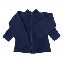 Girls Coat with Scarf - Navy (7530)