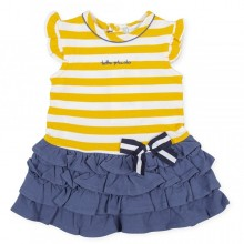Girls Striped Dress (8436)