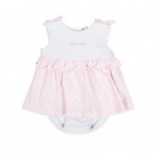 Baby Dress with Matching Briefs (Pink) 8787