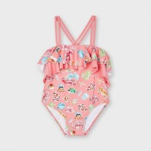 Girls Swimsuit - Coral (3745)