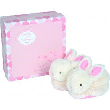 Soft Rabbit Slippers - Pink