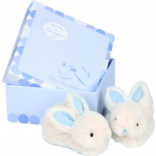 Soft Rabbit Slippers - Blue