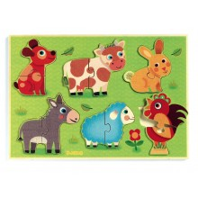 Wooden Puzzle - Coucou Cow